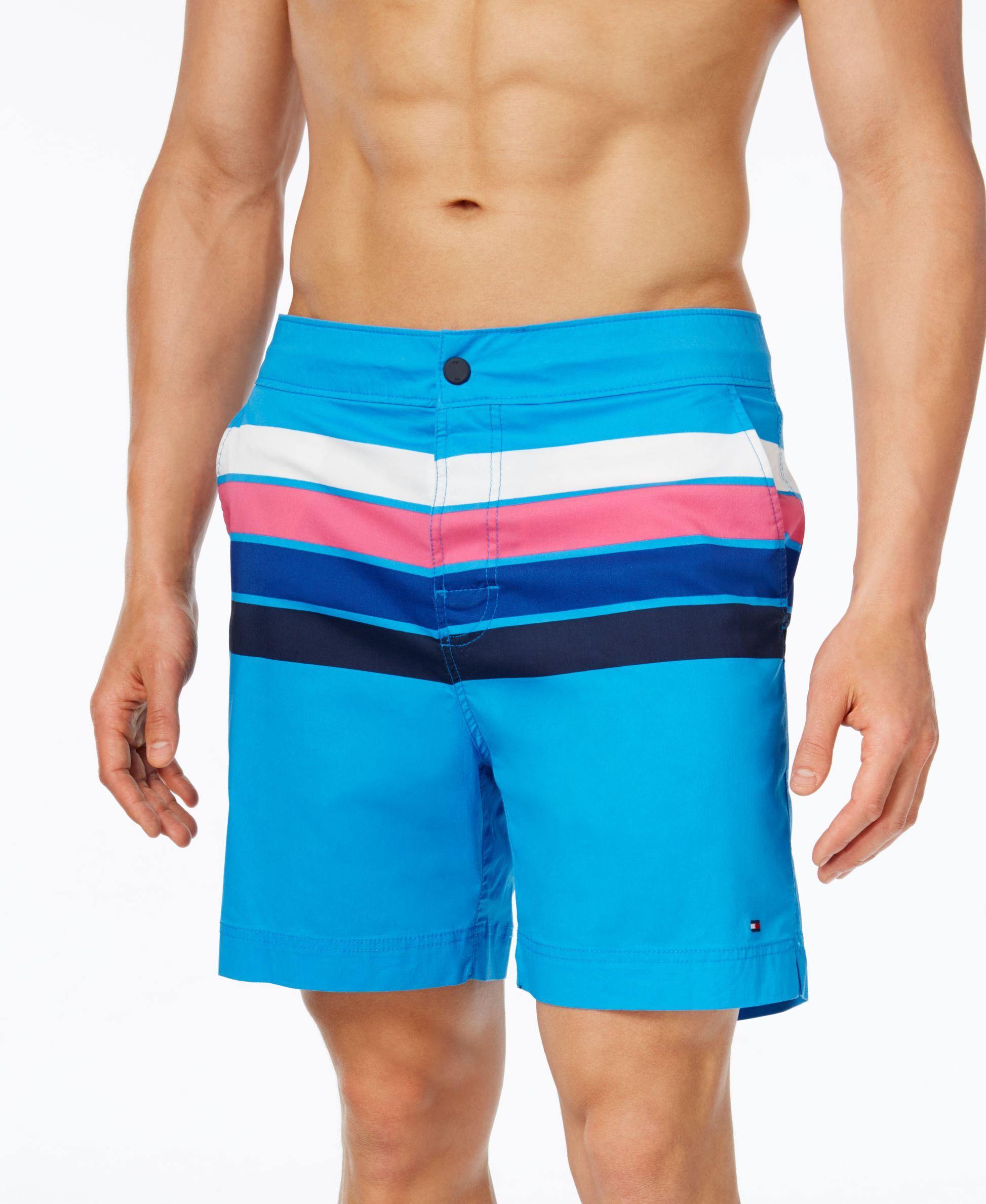 030dd4451c Tommy Hilfiger Men's Sunset Stripe Board Shorts | Products | Tommy ...
