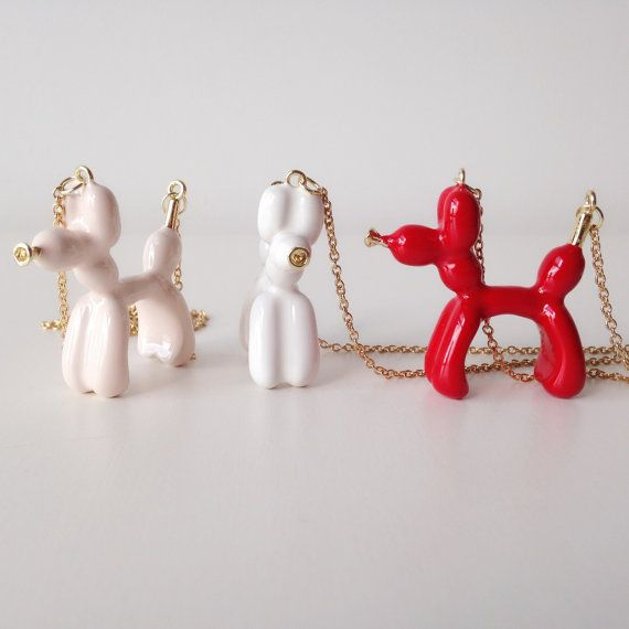 daintyme Big Balloon Dog Necklace /  Animal by DAINTYmeBOUTIQUE