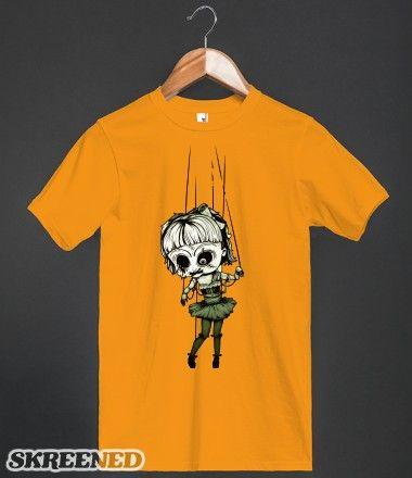 Marionette Skull Doll T-Shirt Monster art - halloween t shirt ideas