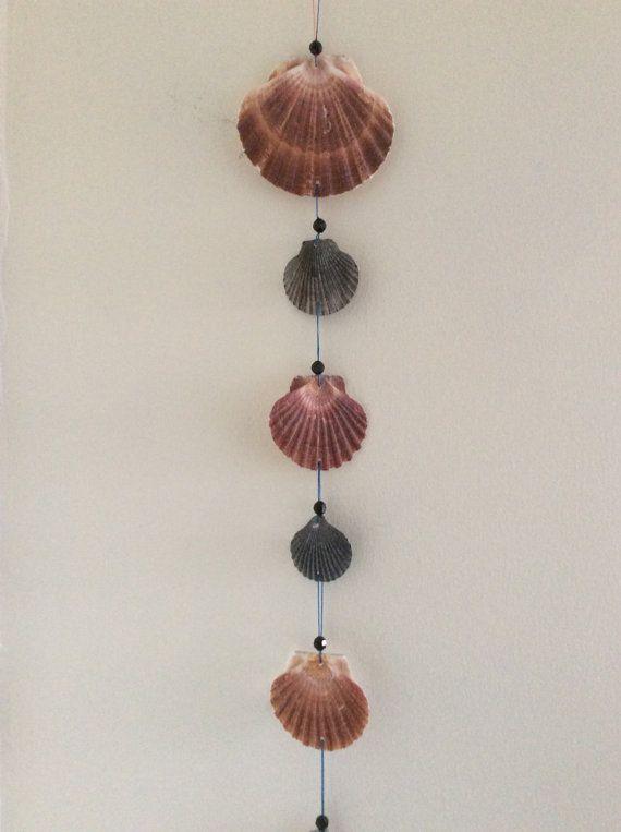 Scallop Shell Mobile Seashell Wall Hanging Seaside Home Decor Windchime