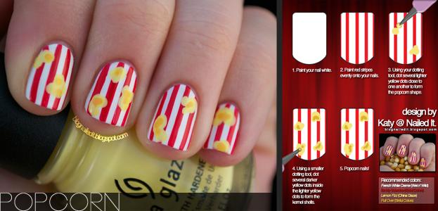Popcorn Nail And More Tutorials Nails Fashion Httpsapps