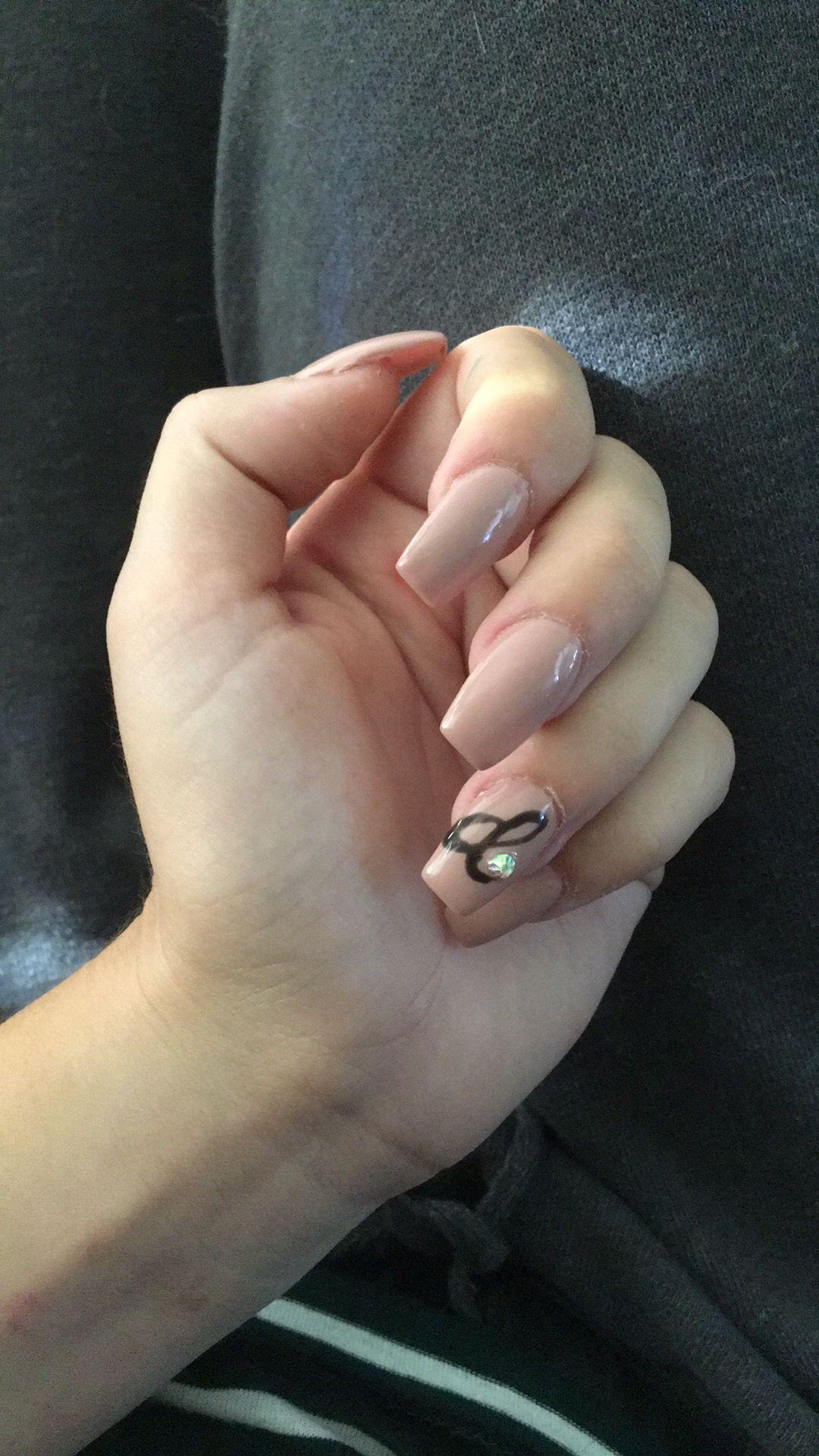 Initial Nails For My Bf Dream Nails Acrylic Nails Coffin Pink Shellac Nails Fall