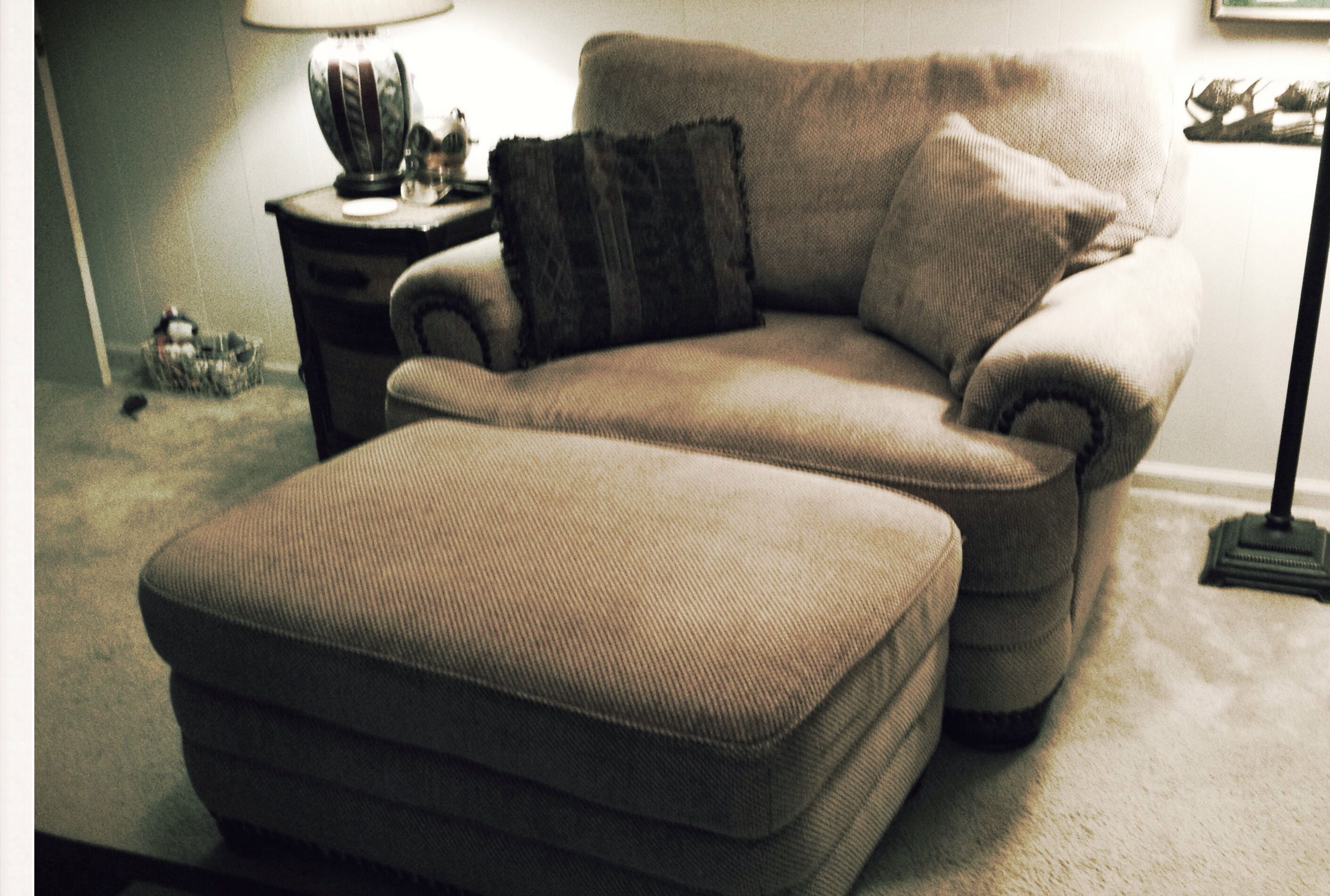 Chair And A Half With Ottoman In Genie S Garage Sale Powder Springs Ga Chair And A Half Chair Regular Sofa
