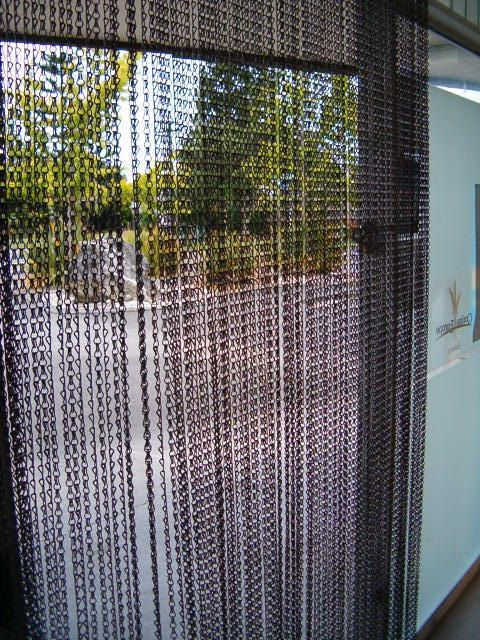 Chain Link Door Fly Screen Gunmetal Colorhelp For By Ballchain