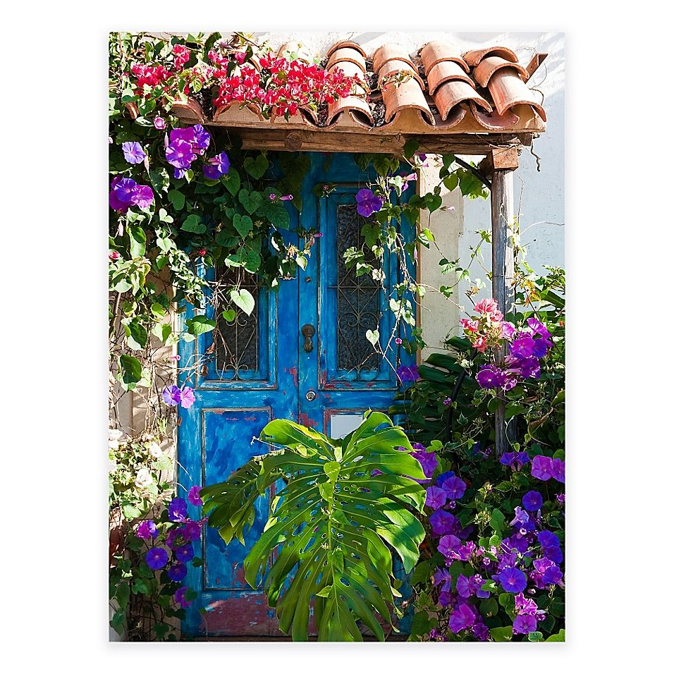 Morning Glory All Weather Outdoor Canvas Wall Art Multi Outdoor Wall Art Outdoor Wall Decor Beautiful Doors
