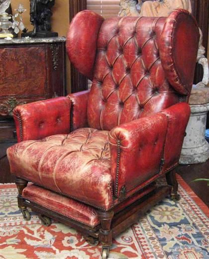 Red Leather Reclining Chair victorian red leather reading chair | that perfect piece of