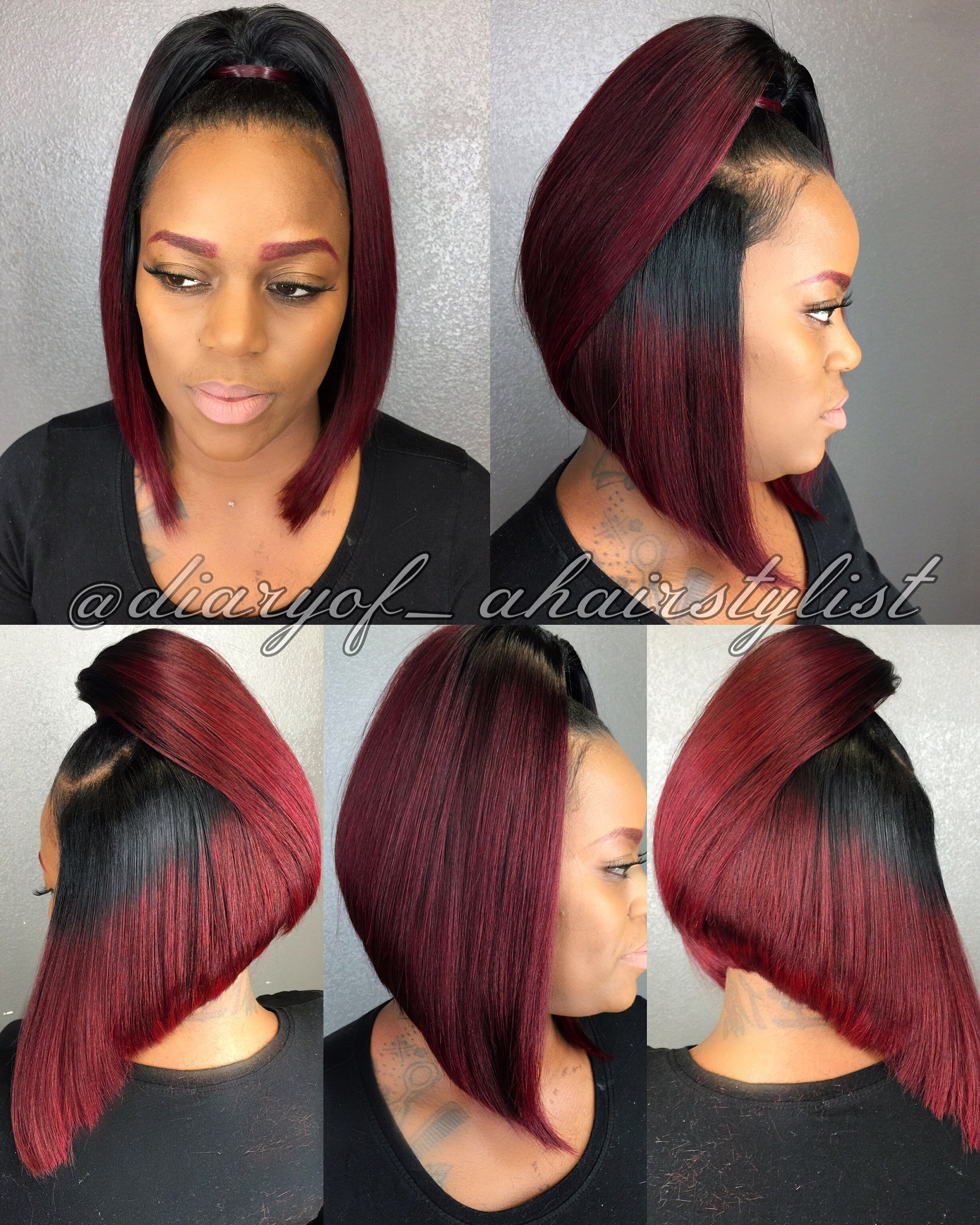 Bob Cut Ponytail : ponytail, Ponytail, Hairstyle!, ❤️, Follow, @diaryof_ahairstylist, Weave, Hairstyles,, Quick, Hairstyles