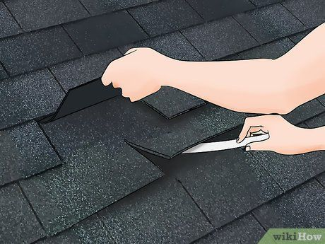 How To Replace Damaged Roof Shingles 12 Steps With Pictures Roof Shingle Repair Replace Roof Shingles Roof Shingles