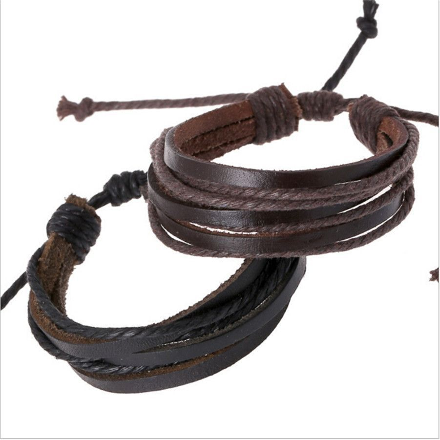 Handweaved laceup leather bracelet products pinterest