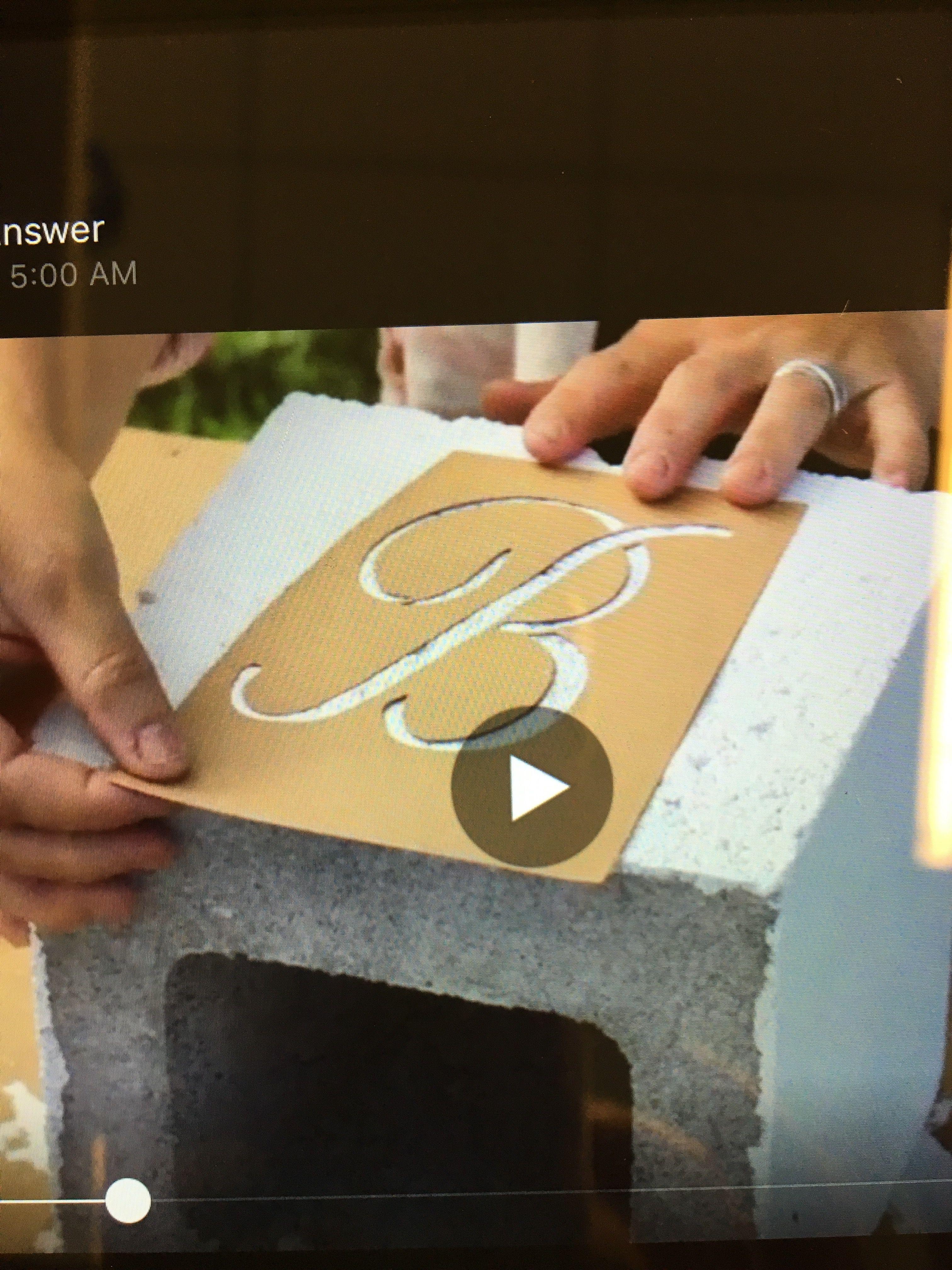 Monogrammed cinder block planters part 1 : paint white | Outside ...