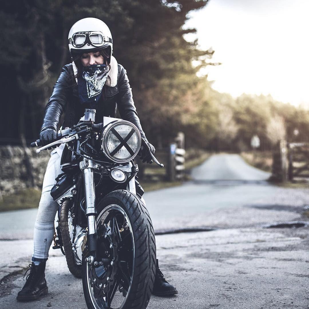 Cafe Racer Girl Cafe Racer Girl Cafe Racer Motorbike Girl