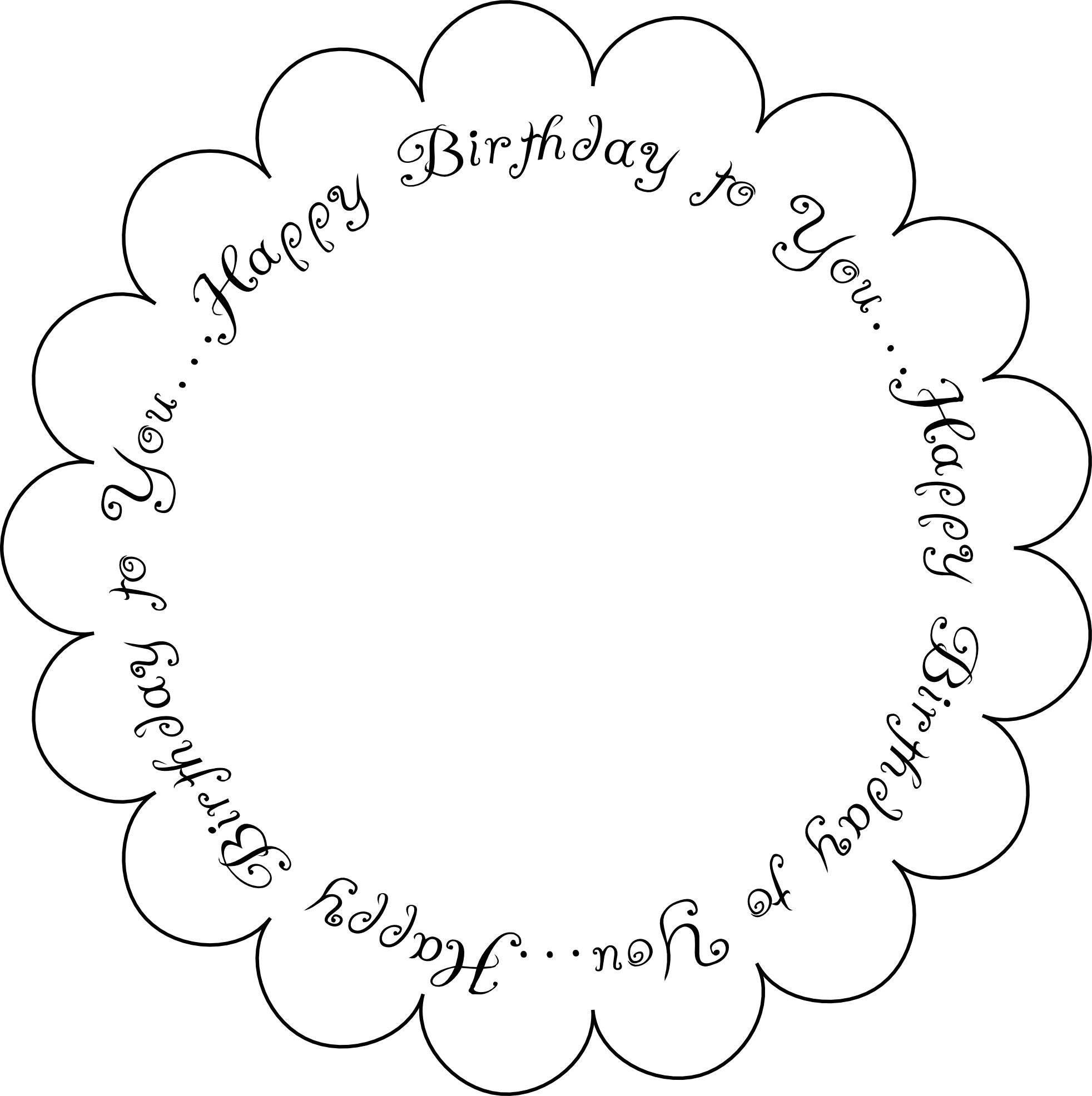 Free Printable Birthday Sentiments