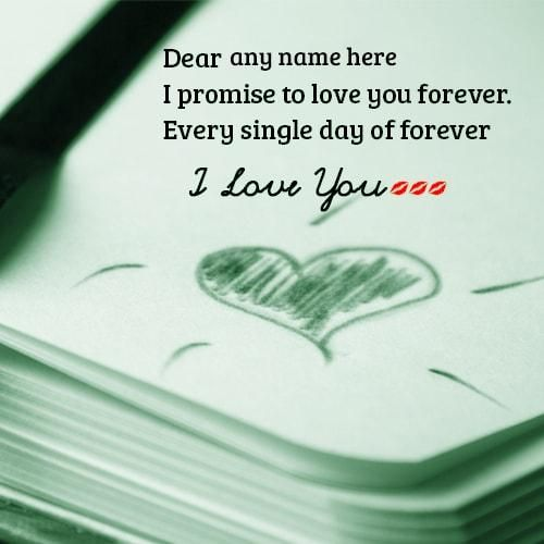 I Love You Forever Promise Cards With Name Love You Forever