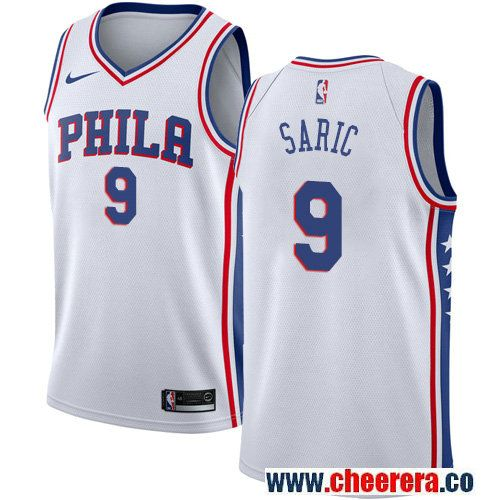 cb76d76f3 Philadelphia 76ers  9 Dario Saric White Nike NBA Men s Stitched Jersey