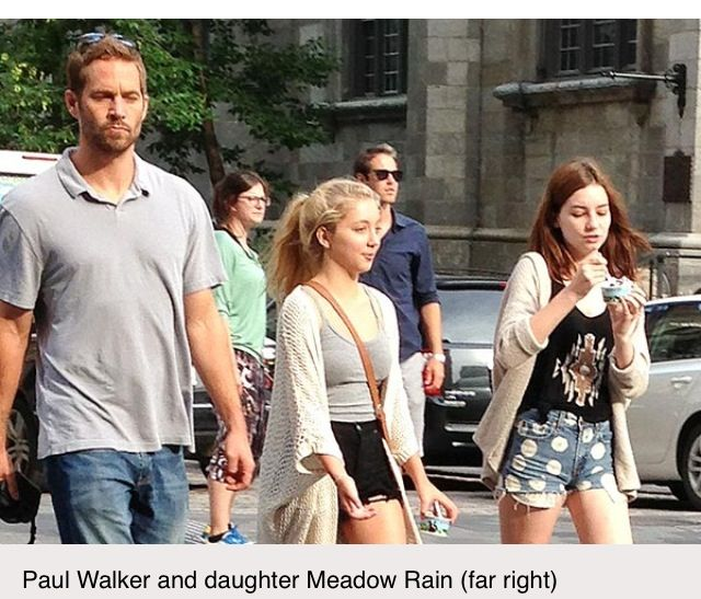 Daughter meadow picture paul walker Paul Walker's