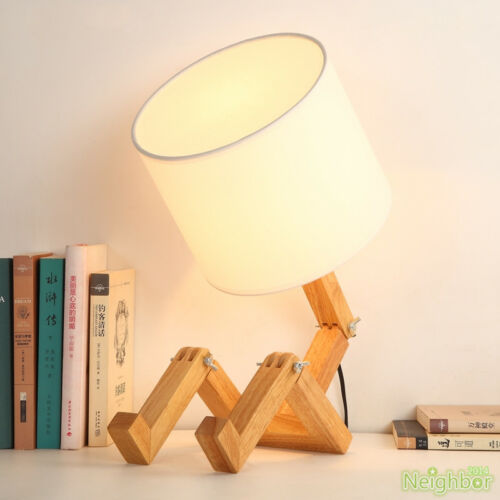 New Creative Little Man Wooden Table Lamp Study Desk Lamp Decorative Lighting Ebay Wooden Table Lamps Led Desk Lighting Light Decorations