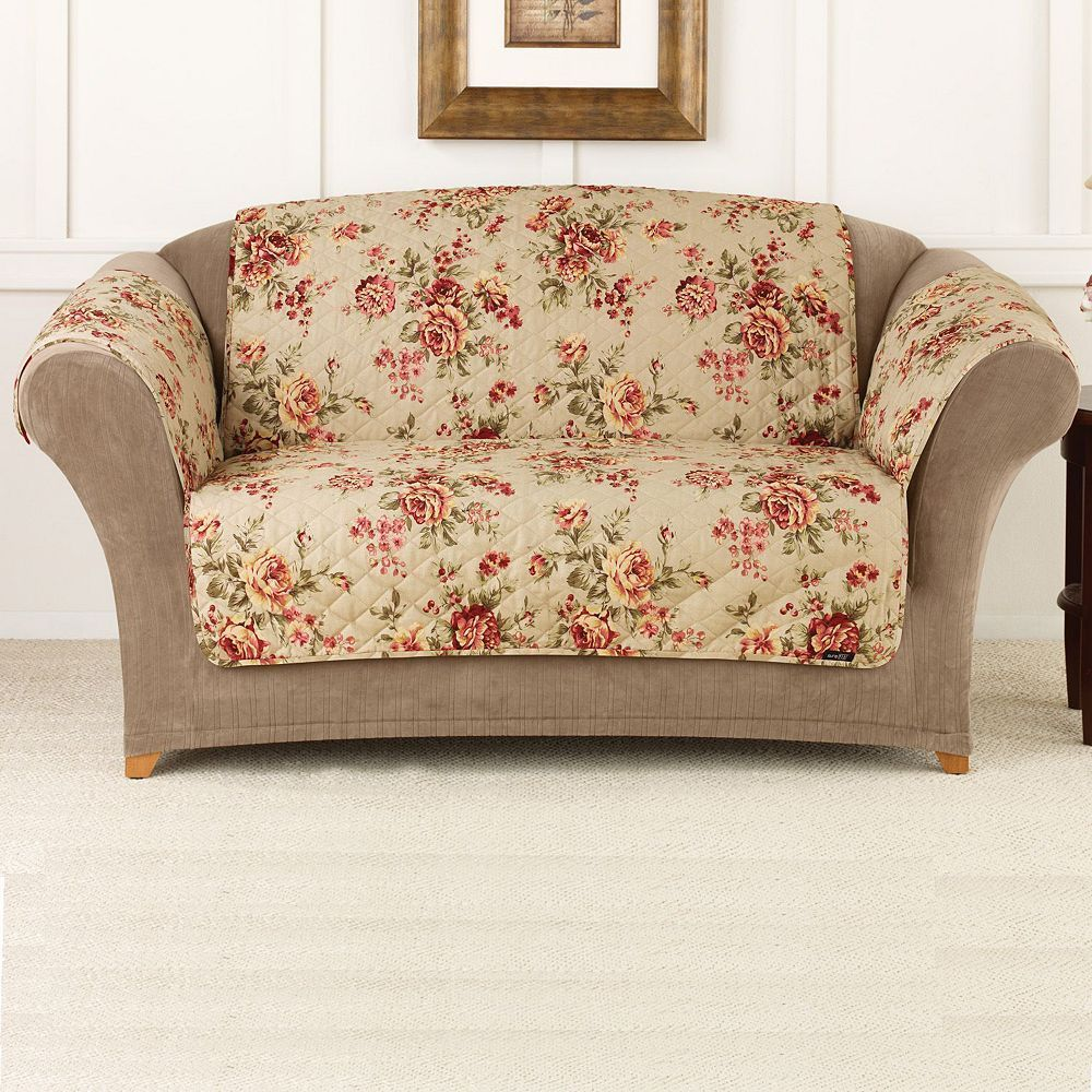 Amazing Sure Fit Lexington Floral Sofa Slipcover Floral Sofa Gmtry Best Dining Table And Chair Ideas Images Gmtryco