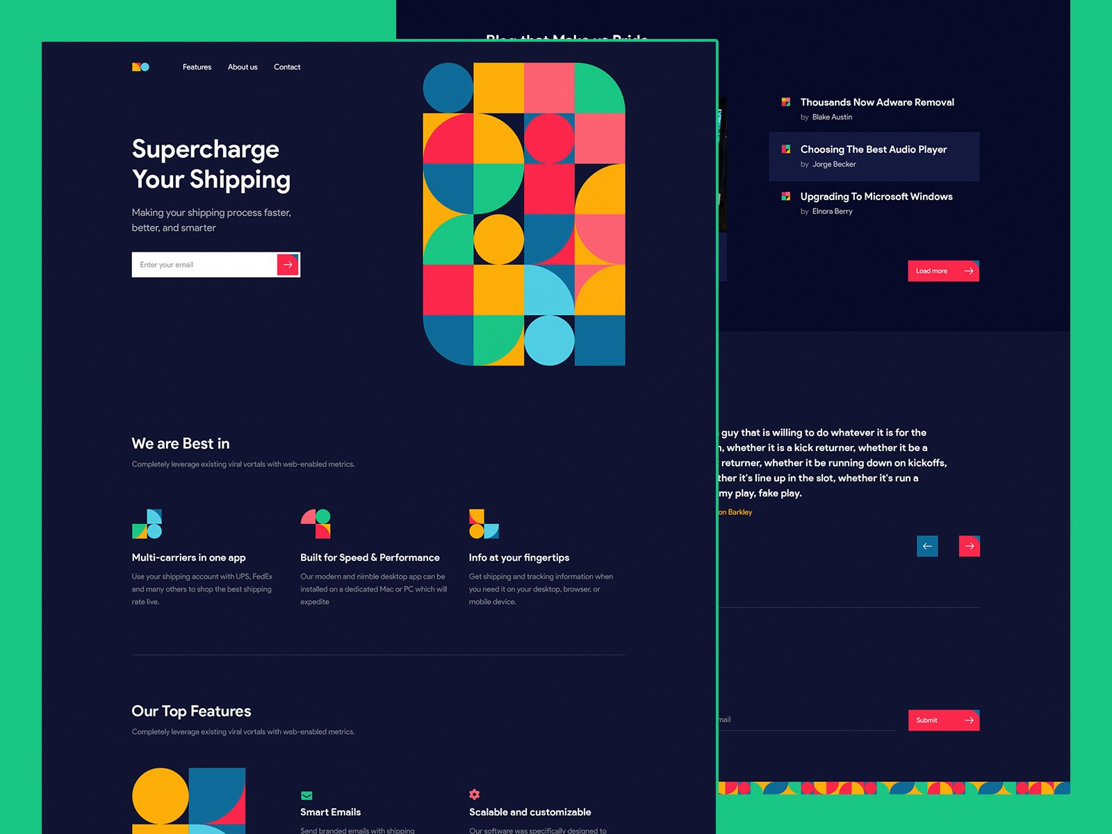 Pattern Landing Page Concept Landing Page Concept Pattern
