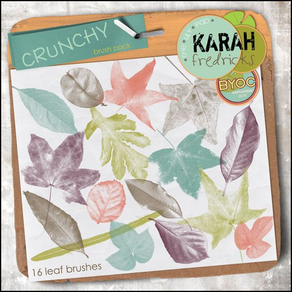 Crunchy - leaf brush pack by Karah Fredricks ... Digital Scrapbooking