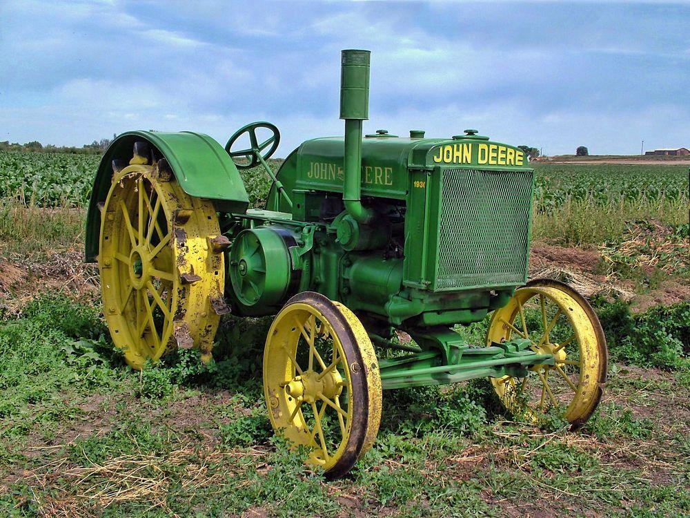 Rare Vintage John Deere 1930 D30 Farm Tractor Photograph Art Picture