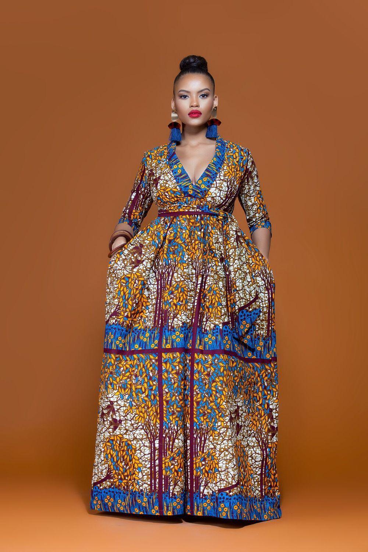 African Print Togo Maxi Dress African Maxi Dresses African Fashion African Fashion Designers