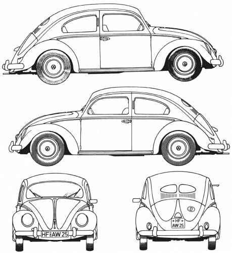1967 volkswagen beetle ledningsdiagram