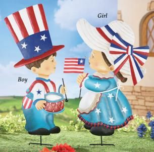 #29962 Girl Vintage Americana Yard Stake by sensationaltreasures