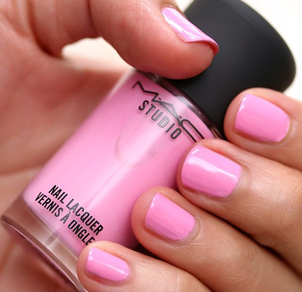 MAC Nail Lacquer in Saint Germain Swatch   SS 14 cosmetics ...