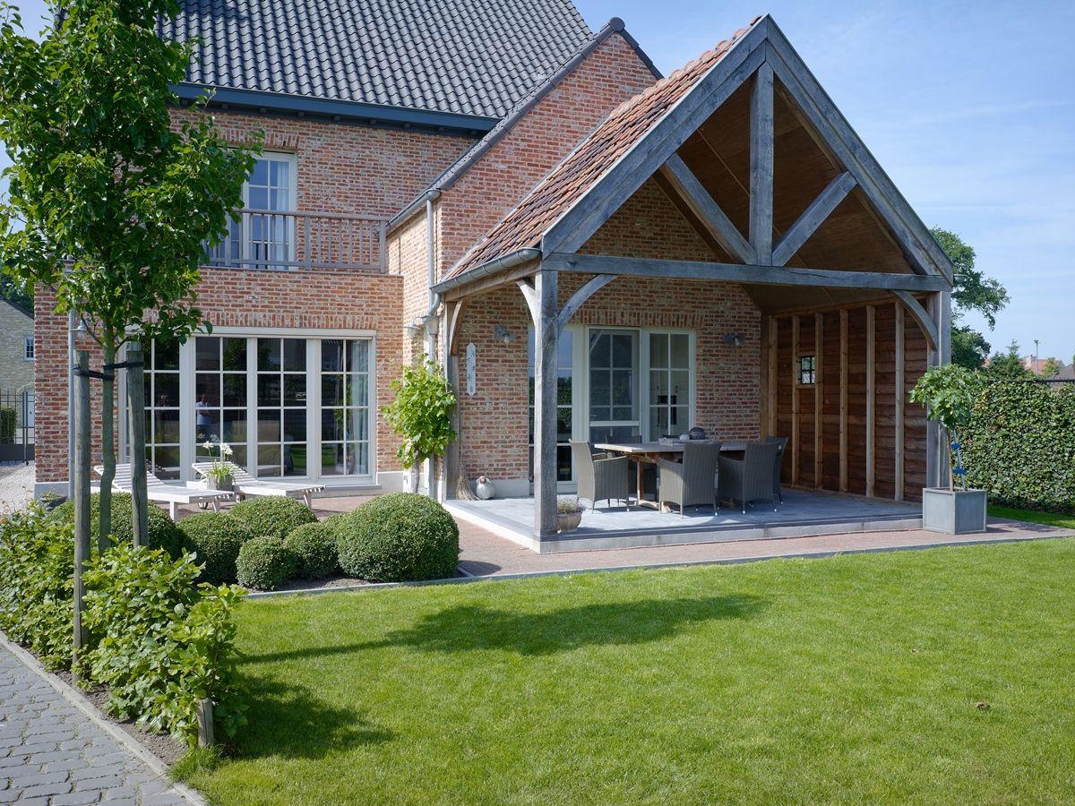 overdekt terras aansluitend aan de keuken woonidee n pinterest haus landhaus und haus pl ne. Black Bedroom Furniture Sets. Home Design Ideas
