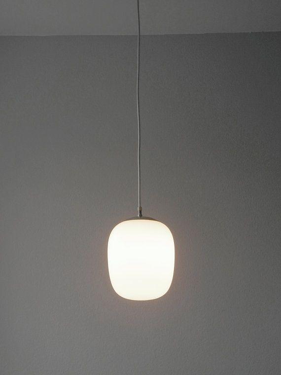 Beautiful Original Mid Centry Modernist Wagenfeld Glass Pendant Lamp
