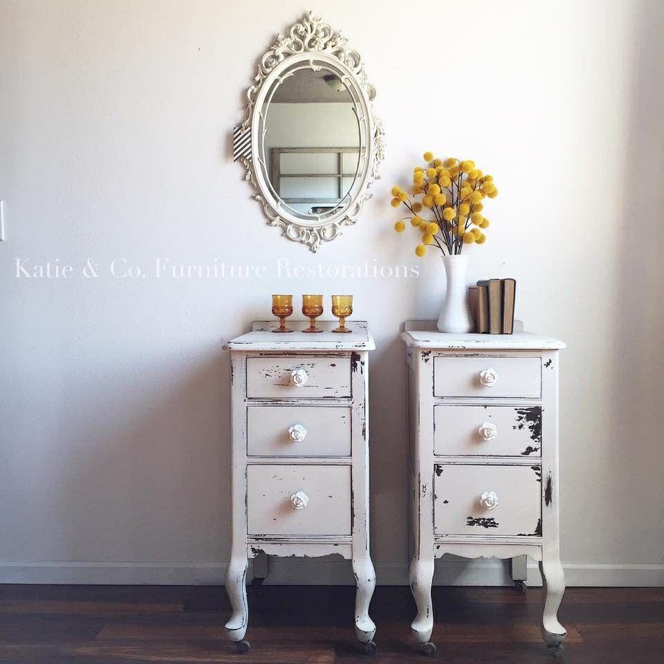 Vanity Turned Side Tables Miss Mustard Seed Milk Paint