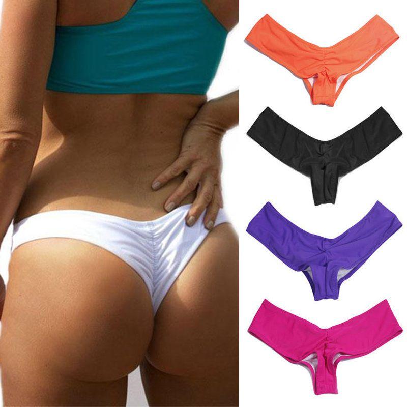 55384abdf4b4 CROSS1946 caliente V forma baño sexy mujeres brasileño bikini bottom ...