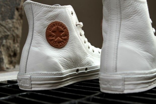 Hightop Converse all white leather joints tho!