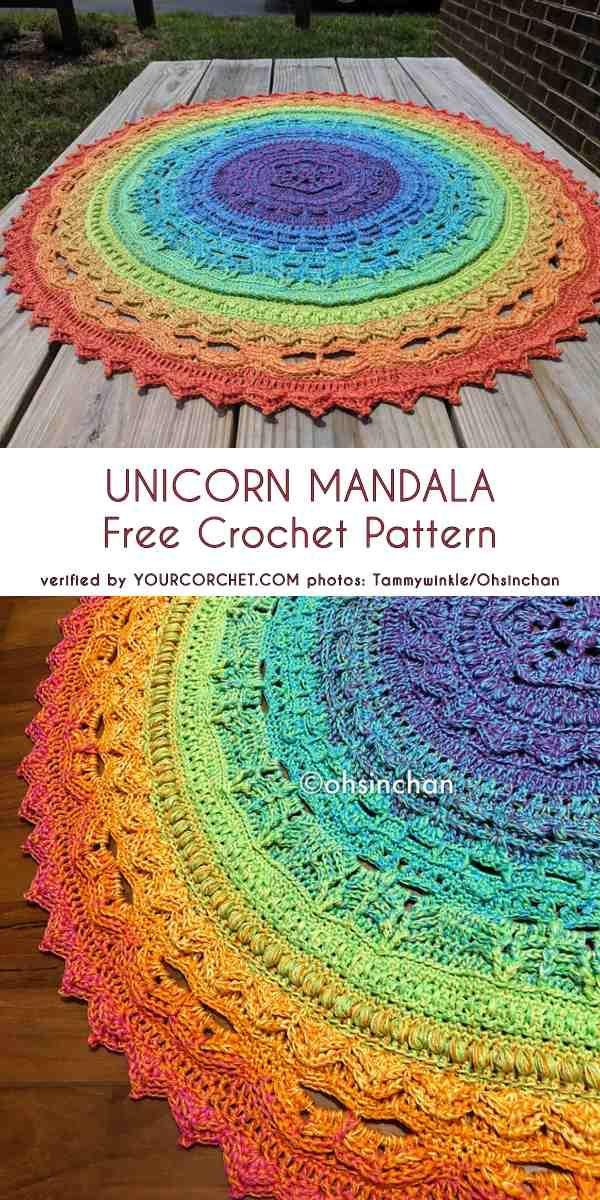 0-1-unicorn-mandala-free-crochet-pattern (1) #crochetmandalapattern
