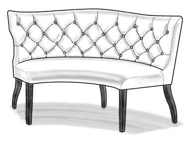 Sensational Shop For Wesley Hall Curved Dining Settee 624 65 And Other Spiritservingveterans Wood Chair Design Ideas Spiritservingveteransorg