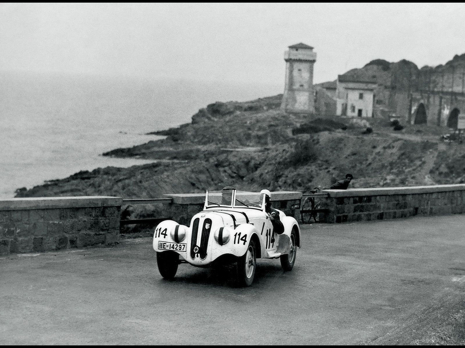 1938. 3This BMW 328, #114, managed an impressive 12th place.   Bmw, Sports car racing, Classic ...