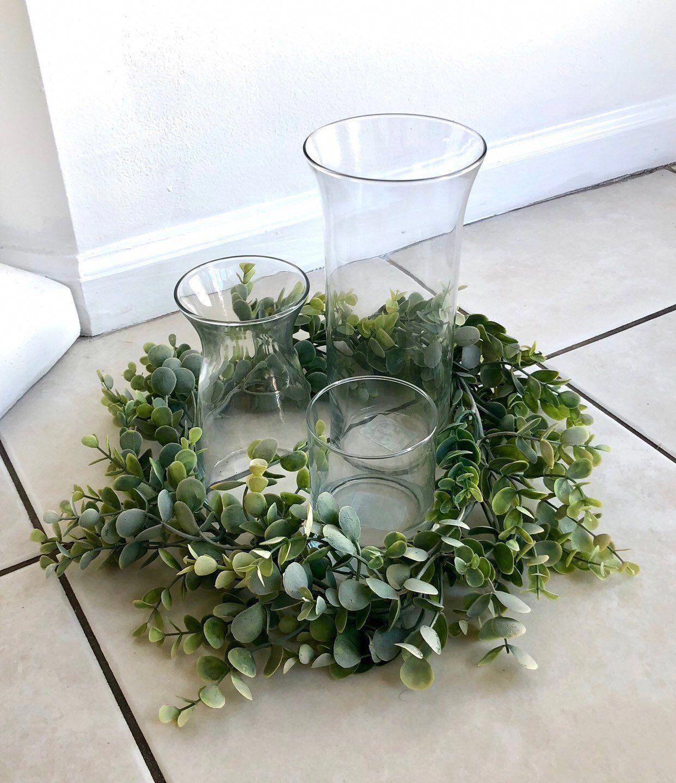 Eucalyptus Table Wreath Artificial Eucalyptus Garland Wedding Centerpiece Euc In 2020 Unique Wedding Flowers Wedding Floral Centerpieces Flower Centerpieces Wedding