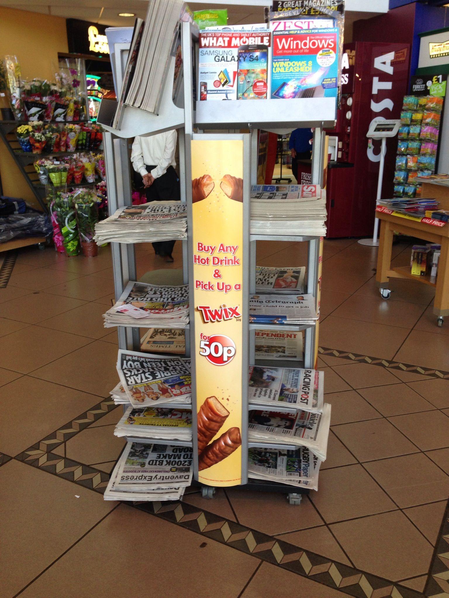 Cross Category Newspaper Display Welcome Break May 2014  # Muebles Joaquin Gil