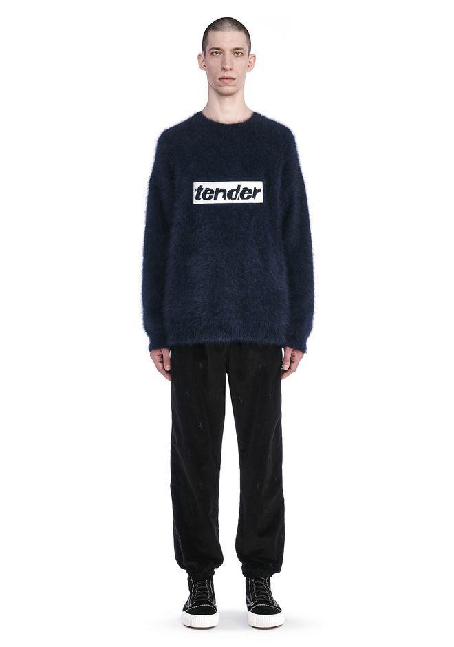 ALEXANDER WANG Oversized Sweatshirt With Tender Embroidery. #alexanderwang #cloth #