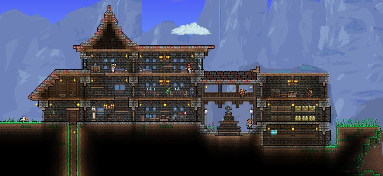 how to build a house in terraria ps3