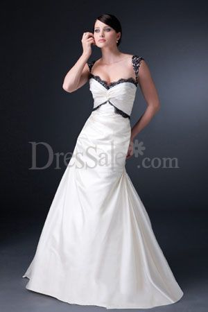 Black Trim Nontraditional Wedding Dress Fitted Lace Wedding Dress Wedding Dresses Lace
