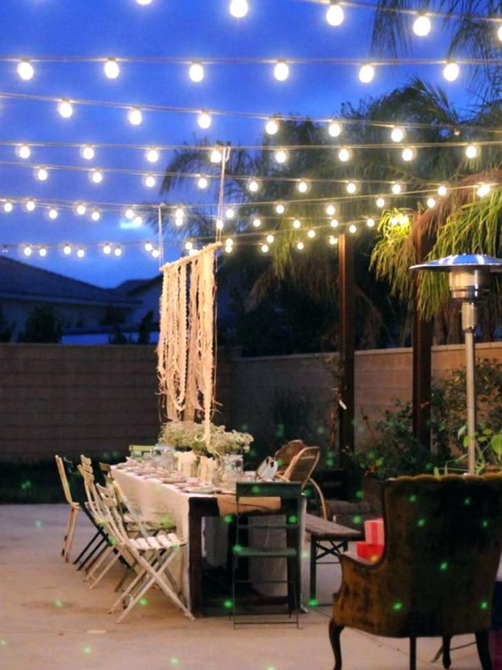 Rope Lights Patio Landscape Lighting Stringing Outside String Hang Solar