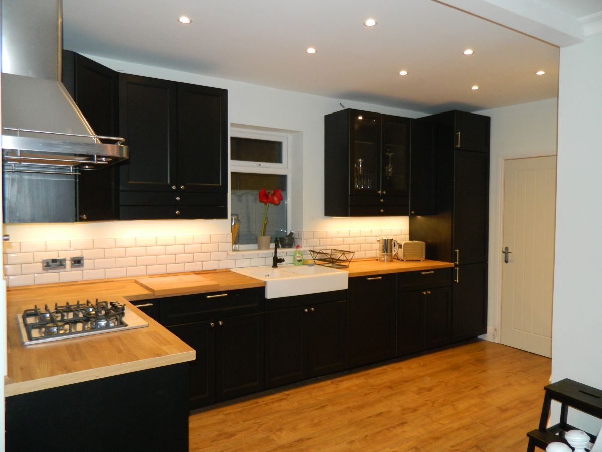 Meuble Cuisine Pas Cher Gris ~ The Finished Kitchen Kitchens House And Interiors
