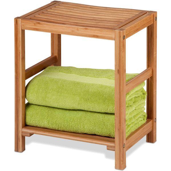 Honey-Can-Do Bamboo Spa Bench, Brown - Bathroom Furniture >.