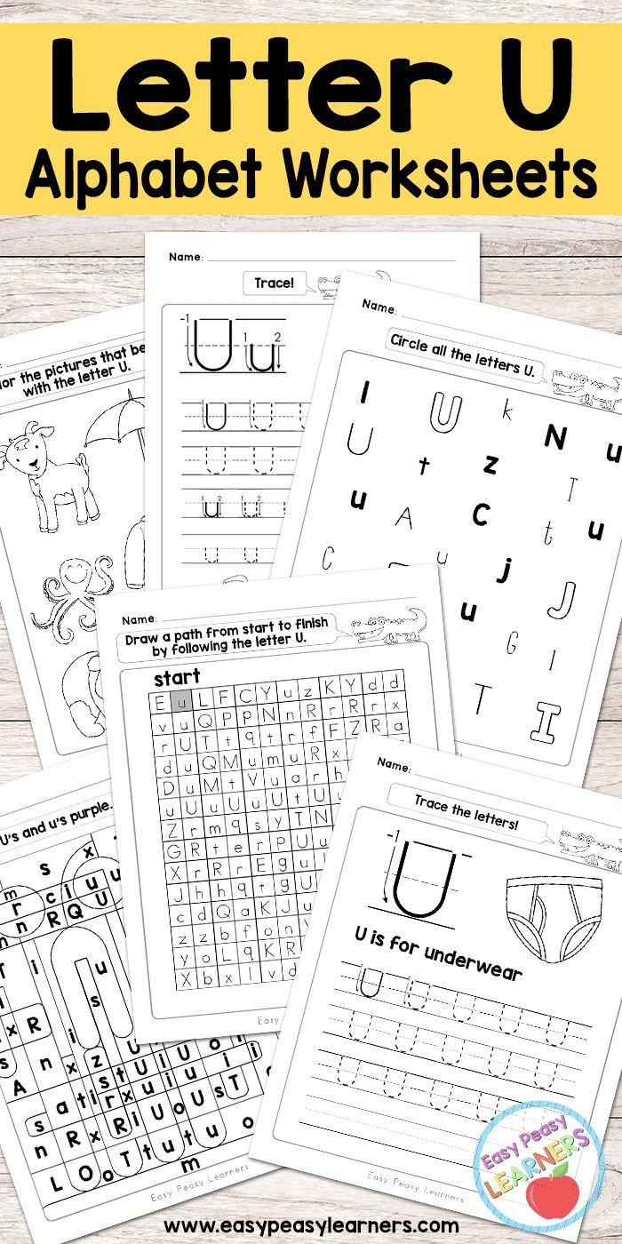 Free Printable Letter U Worksheets - Alphabet Worksheets Series ...