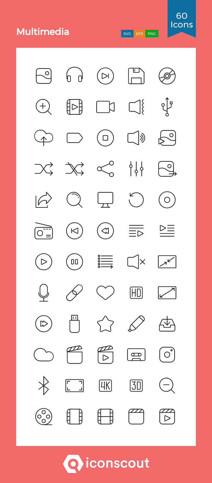 Download Multimedia Icon Pack Available In Svg Png Eps Ai Icon Fonts Icon Pack Custom Icons Icon