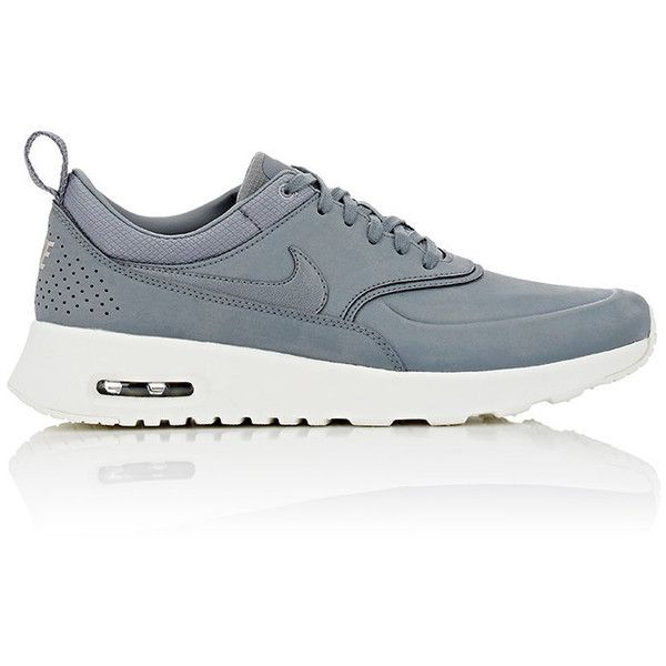 best cheap aab07 71486 Nike Womens Air Max Thea Premium Sneakers ( 115) ❤ liked on Polyvore  featuring shoes, sneakers, nike, tenis, zapatillas, grey, leather low top  sneakers, ...