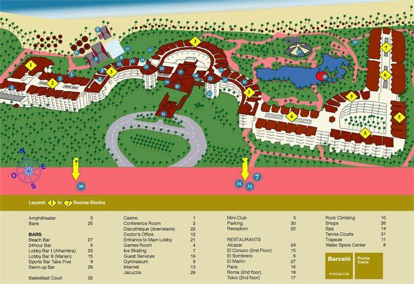 hard rock hotel punta cana resort map pdf