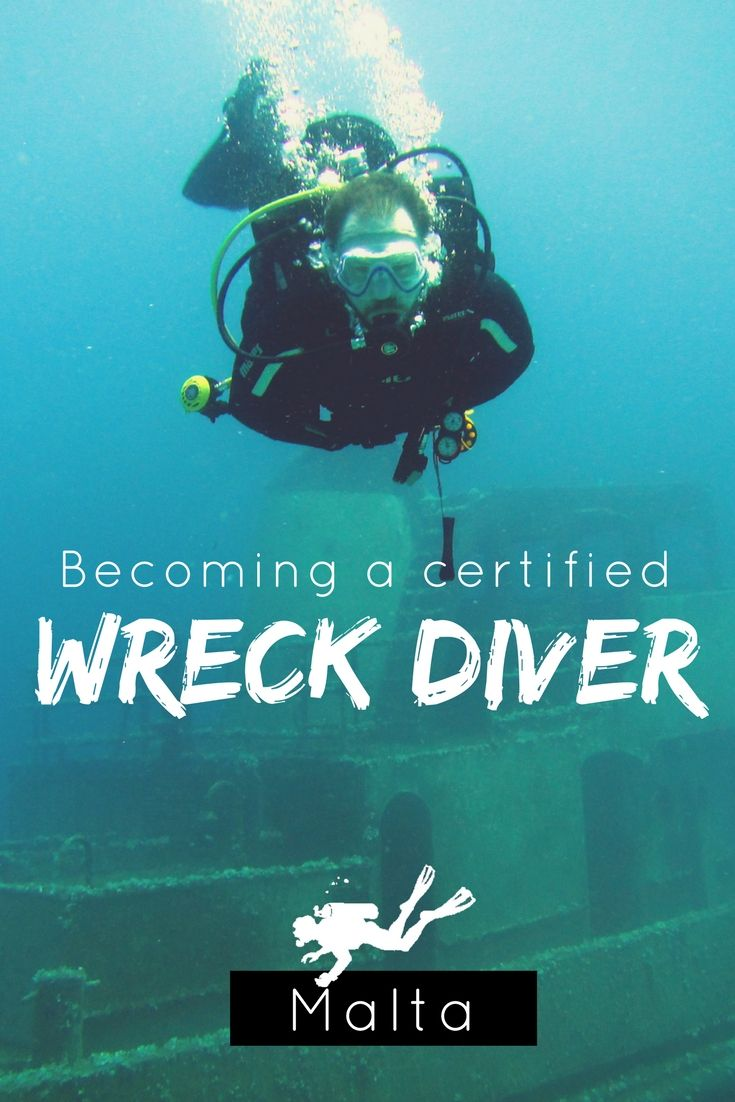 Becoming A Certified Wreck Diver In Malta Scubas Malta And Scuba