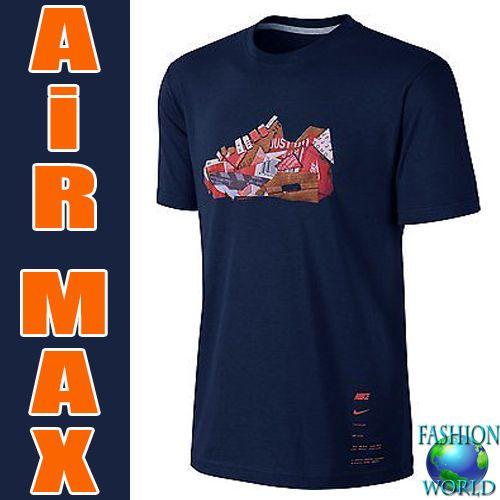 Nike Mens Air Max 90 Cork Collage T Shirt BLUE 823548 419 SIZE XL NWT